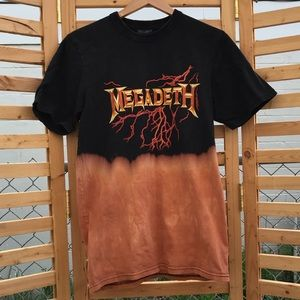 Custom Bleached Megadeth band T-shirt